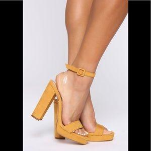 Yellow chunk heels